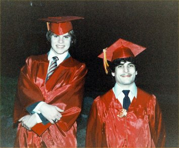 Russ and Kevin, high school graduation